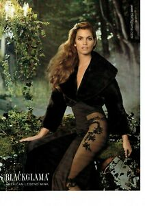 Blackglama Original Magazine Print Ad Advert Cindy Crawford pantyhose Long legs