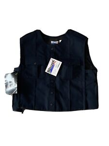 BLAUER 8370 POLYESTER ARMORSKIN VEST OUTER ARMOR CARRIER DARK NAVY XL  TALL