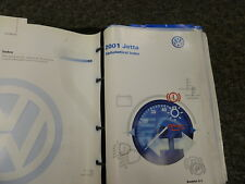 2001 Volkswagen VW Jetta Sedan Wagon Owner Owner's Manual GL GLS GLX Wolfsburg