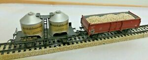 Märklin H0 4431 2achs. High With Charge And 308/2 Brown Coal Dust Dare
