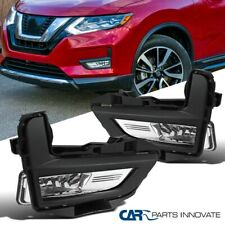 For 17-18 Nissan Rogue Clear Lens Fog Lights Driving Front Bumper Lamps+Switch