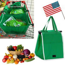 Foldable Shopping Tote Eco Bag Grab Bag Fabric Clip-To-Cart Trolley Purchase Bag