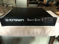 Crown Crown PB-1 Power Base 1 Power Amplifier Stereo 400 Watts TESTED