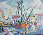 The Port Paul Signac Boat Painting Print CANVAS HQ Giclee Repro Poster Small Art