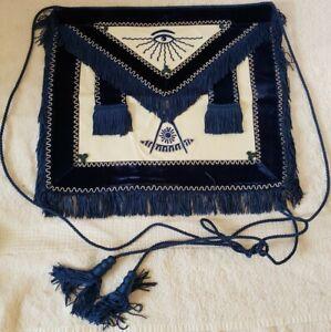 """Vintage 1961 """"Master Mason"""" Masonic Mason Named & Dated Ceremonial Uniform Apron"""
