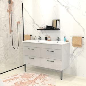 Ensemble meuble sous-vasque + vasque résine MILANO / Blanc