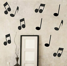 20 x Musical Notes Wall Sticker Decal Kids Office Piano Vinyl School | S6