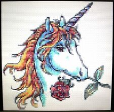 UNICORN AND ROSE ~ Counted Cross Stitch KIT #K46