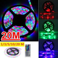 1M-20M RGB LED Strip Lights Tape Colour Changing with 44 Key Remote Control 12V