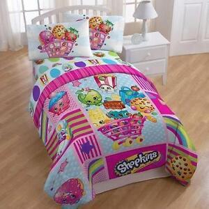 "Shopkins Reversible Comforter Twin/Full 71"" x 86"" NEW"