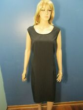 Plus Size 22W black/white PINSTRIPED SLEEVELESS dress by HELEN BLAKE