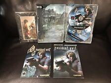 PS2 Resident Evil 4 Premium Edition Steelbook 2-Disc W/ DVD + RARE LASER Cel VG!
