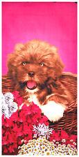 """30x60"""" Cute Puppy Premium Velour Beach Towel"""