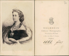 Neurdein, Paris, Impératrice Eugénie CDV vintage albumen carte de visite. Ti
