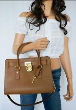 Michael Kors Hamilton  East West Satchel Leather Shoudler Bag Brown Luggage