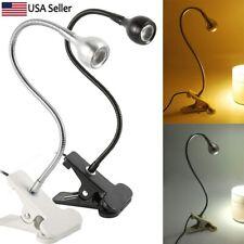 Clip Light,Clip-On Desk Lamp Flexible Goose Neck Adjustable,Usb On/Off Switch Po