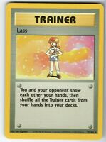 Lass - Base Set - 75/102 - Rare - Collectible - Pokemon Card - EXC / Near Mint