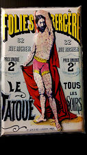 Tatoo man at the Folies Theater Poster in 3-D Poster size 11x17
