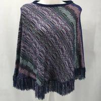 Missoni Purple Knit Shawl One Size