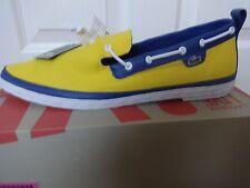 Lacoste Zapatos Mocassins Amarillo Malling Slip Live UK 12 EU 46 nos 13 Nuevo + Caja