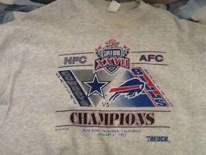AFC NFL NFC Super bowl XXVII 1993 Cowboys vs. Buffalo Bills Sweatshirt