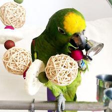 Pet Bird Bites Chew Toy Rattan Balls Swing Cage Hanging Parrot Parakeet Toys