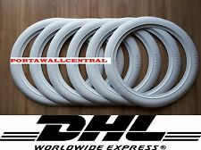 Firestone tire style 14'' White Wall Tyre Insert Trim Port-a-wall - Set of 6