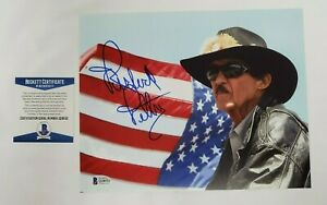 Richard Petty Signed Photo 8X10 Nascar Racing The King Beckett COA