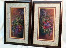 Home Interiors Homco Pictures Set Of 2 Floral Margie Whittington Artist N-17 '02