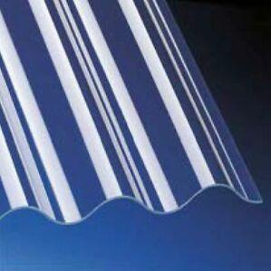 Lichtplatten 3mm Acrylglas 76/18 klar Sinuswelle glatt - Wellplatten *Muster*