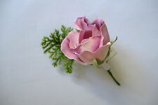 12 X ZARA ROSE BUD READY TO WEAR CORSAGES WITH PINS ~  DUSKY PINK