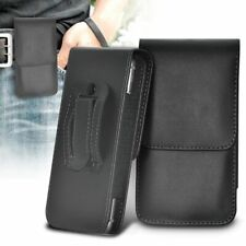 Black✔Quality Leather Excellent Protection Vertical Belt Phone Pouch Case
