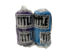 title boxing hand wraps 180 Turquoise And Purple Two Pack NEW🔥