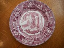 "Wedgwood The Village Blacksmith Longfellow Series 9"" mulberry plate ca 1950"