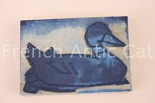 French antique school rubber stamp farm duck 11,5*8 cm tampon canard AA100
