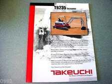 Takeuchi TB235 Excavator Brochure