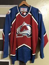 VTG NHL CCM Colorado Avalanche Hockey Jersey Mens XL