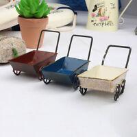 Mini Metal Trolleys Carts Miniature Fairy Garden Craft Home Decor Art Decoration