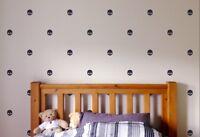 26 Wall sticker Skull Silhouette logo deco cartoon room tête de mort crâne