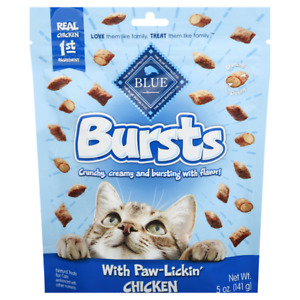 Blue Buffalo PAW LICKIN' CHICKEN BURSTS Cat Treat 2 oz NO BY PRODUCTS  USA MADE