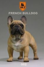 MR.Z 1/6 Scale Brown French Bulldog Simulation Dog Puppy Pet Animal Toy Resin