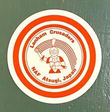 """Vintage NOS Lanham Crusaders NAF Atsugi, Japan Sticker Decal 4"""""""