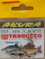 FISHING HOOKS 6315 SIZE 10 AKURA TRABUCCO HOOKS NICKELED EYELESS DE SURFING