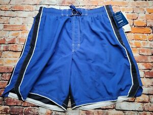 SPEEDO Mens Lined Swim Trunks Shorts 2 Pockets Blue Size XL NWT