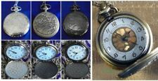DOCTOR WHO GALLIFREYAN METAL POCKET WATCH Dr Time Lord Necklace + BAG + BATTERY!