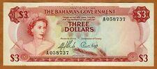 Bahamas, 3 dollars L. 1965, P-19, QEII, Ch. UNC