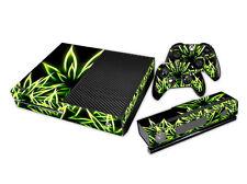 XBOX ONE Skin Design Foils Aufkleber Schutzfolie Set - Cannabis Motiv