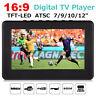 """DVBT2/DVBT Portable 7""""-12"""" TFT LED HDTV Television Car Boat RV Digital Analog GF"""