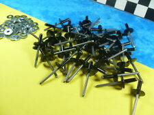 Vintage Snowmobile Black RIVETS (50) LARGE HEAD 3/16 & (50)  Washers