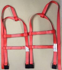 Car Basket Straps Tow Dolly Wheel Net Set Flat Hooks RED USA MADE fits STEHL 2T